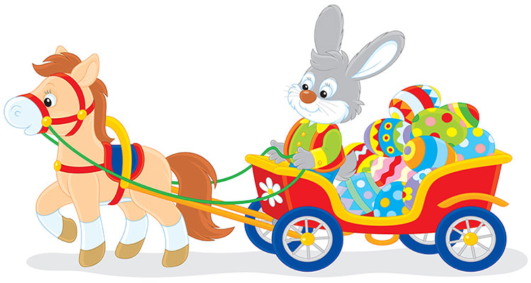 Easter Bunny Train and carriage ride