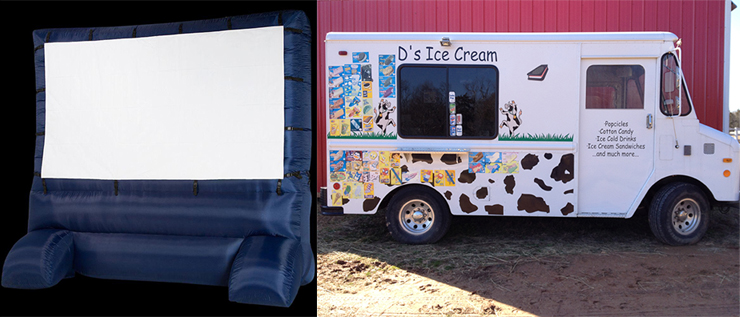 icecream  truck outdoor screen northern va