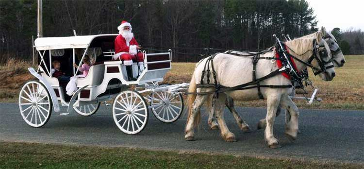 Santa Horse Drawn Carriage Ride Fairfax Virginia